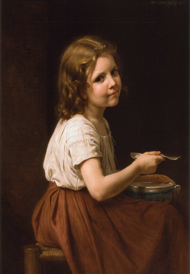Girl with Soup, Bouguereau (16X23)