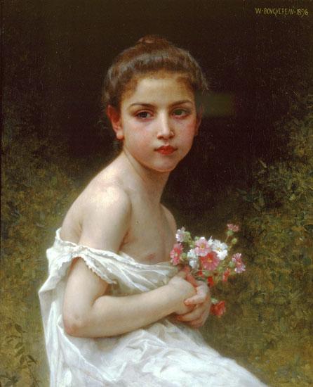 Girl with a Bouquet, Bouguereau