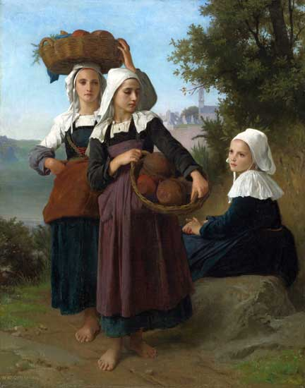 Girls of Fouesnant, Bouguereau (22x28)