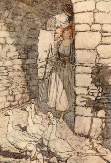 The Goose Girl,  Arthur Rackham