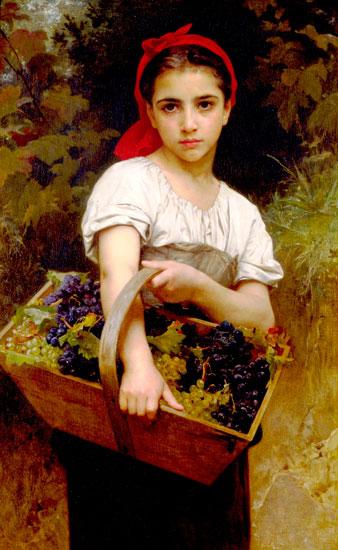 Grape Picker, Bouguereau (16x26)