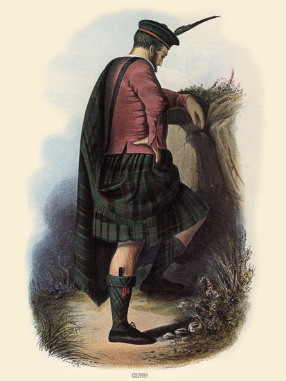 Clan GunnTartan, Robert McIan (12X16)