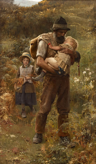 Home from the Fields, Arthur Hacker (20X34)