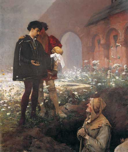 Hamlet and the Gravediggers, Dagnan-Bouverte (16X19)