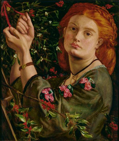 Hanging the Mistletoe, Dante Gabriel Rossetti (11X13)