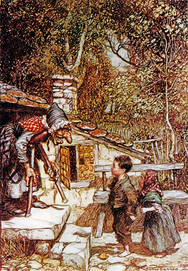 Hansel and Gretel, Arthur Rackham (12X17.2)