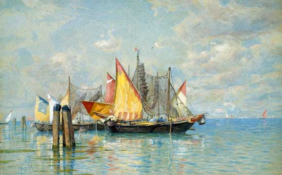 Venetian Sailboats, Haseltine (18x29)