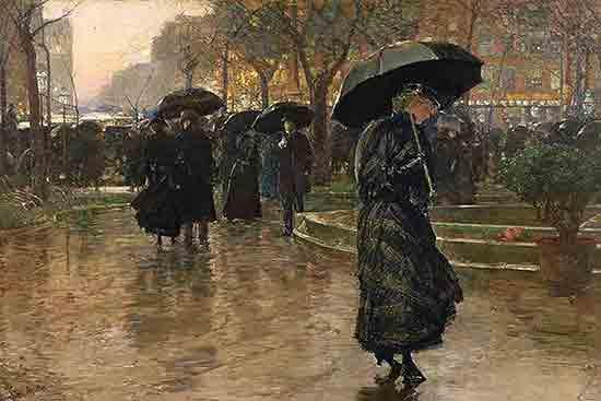 Rain Storm in Union Square, Childe Hassam