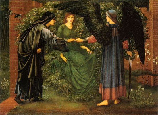 Heart of the Rose, Edward Burne-Jones (16x22)