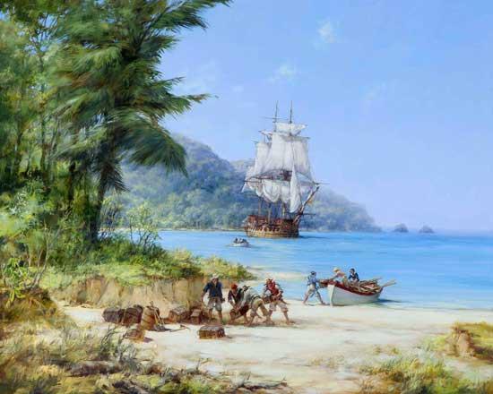 Henry Morgan's Ship, Dawson (16X20)