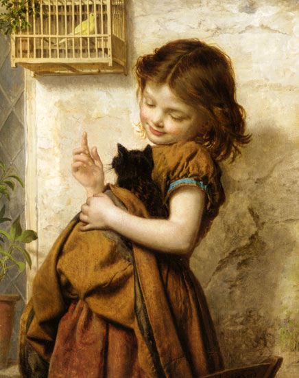Her Favorite Pets, Sophie Anderson (17.5x22)