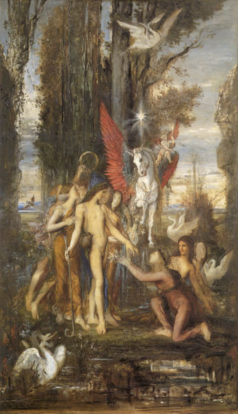 Hesiod and His Muses, Moreau (16X28)