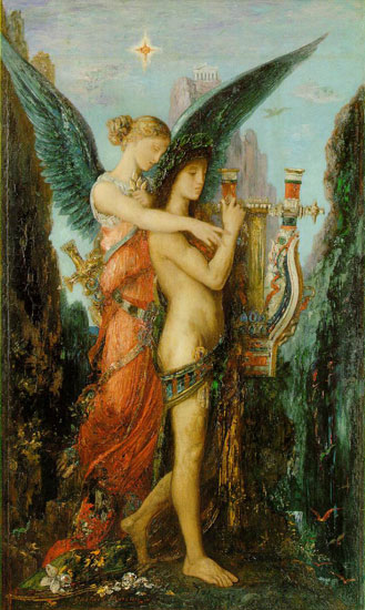 Hesiod an His Muse, Gustave Moreau