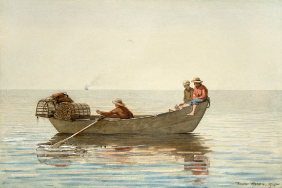 Three Boys in a Dory, Homer 918X27)