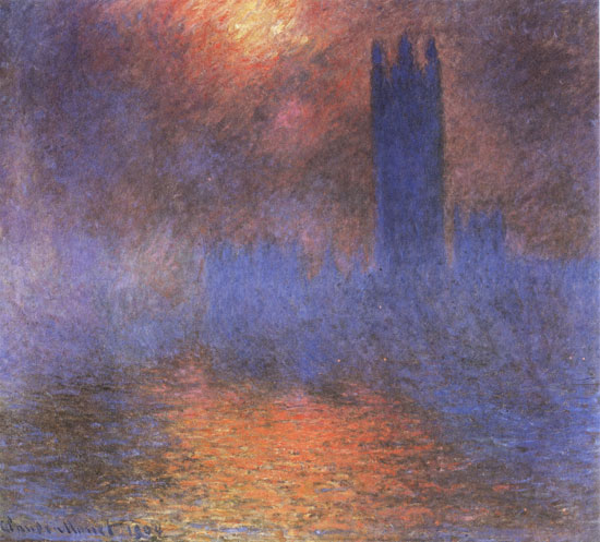 The Houses of Parliment, Monet (22X24.5)