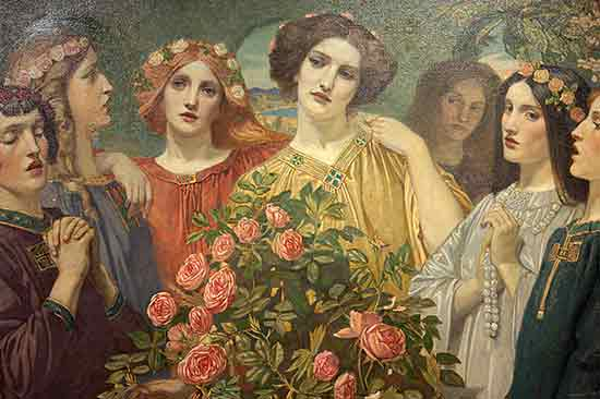 Hymn to the Rose (detail),John Duncan