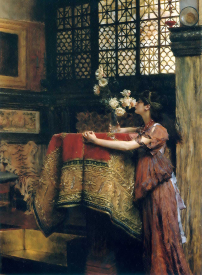 In My Studio, Alma Tadema (16.2X22)