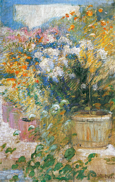 In the Greenhouse, John Henry Twachtman (22x34.75)