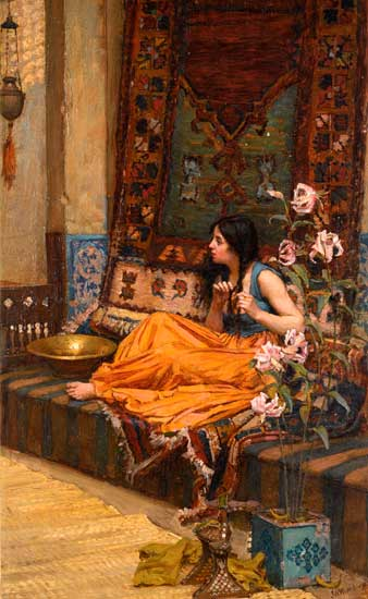 In the Harem, John William Waterhouse