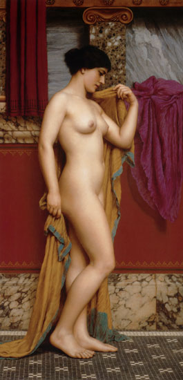 In the Tepidarium, John William Godward (16X33)