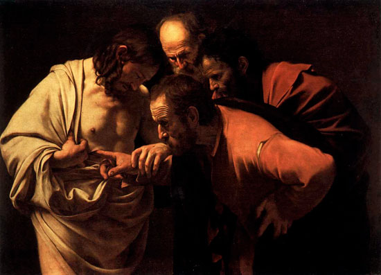 The Incredulity of St. Thomas, Caravaggio