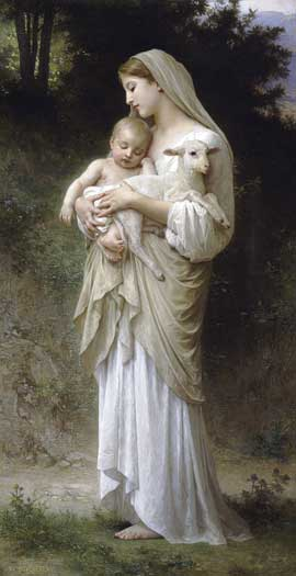 Innocence, Bouguereau (16X31)