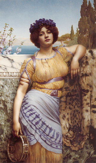 Ionian Dancing Girl, John William Godward  (16X27.25)