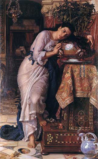 Isabella and the Pot of Basil, Hunt (16X26)