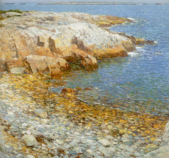 Isle of Shoals, Broad Cove, Childe Hassam (20.2X22)