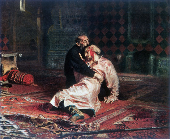 Ivan the Terrible and His Son, Ivan, Repin (18X22)