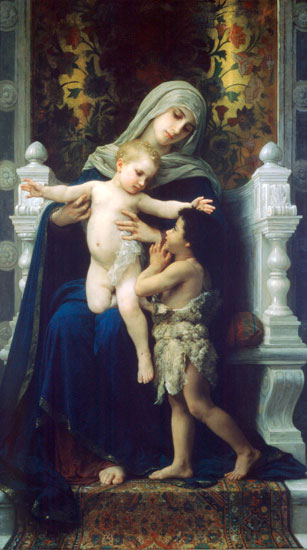 Jesus and John the Baptist, William Bouguereau