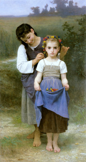 Jewels of the Field, William-Adolphe Bouguereau (16X30)