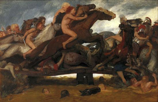The Battle on the Bridge, Arnold B�cklin (16X26.75)