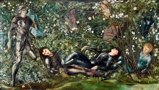 Knights and the Briar Rose, Burne-Jones (16X28)