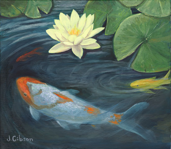 Koi and Waterlily, Joyce Gibson