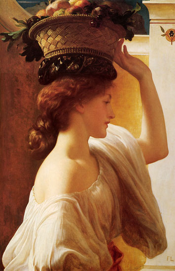 Eucharis - Girl with a Basket of Fruit,Fredrick Leighton (22X34)
