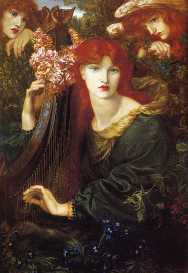 La Ghirlandata, Dante Gabriel Rossetti (16X23.8