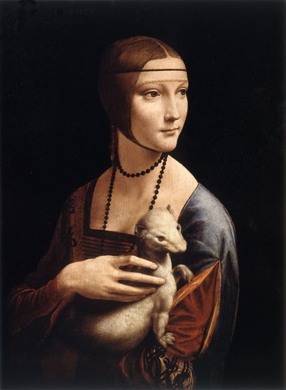 Lady with an Ermine,Leonardo da Vinci (22X30)