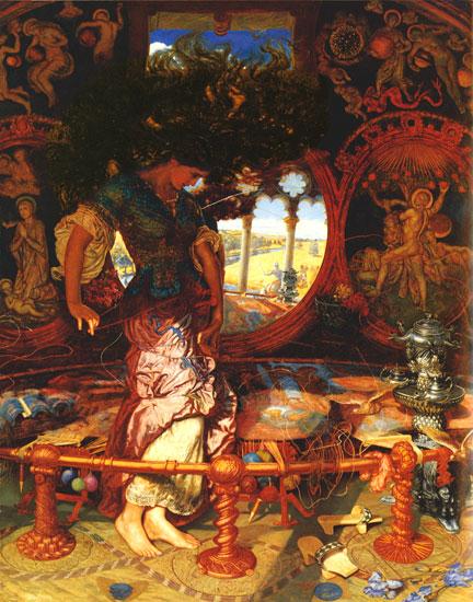 The Lady of Shalott, William Holman Hunt (22X28)