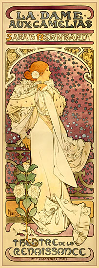 The Lady of the Camelias, Alphonse Mucha