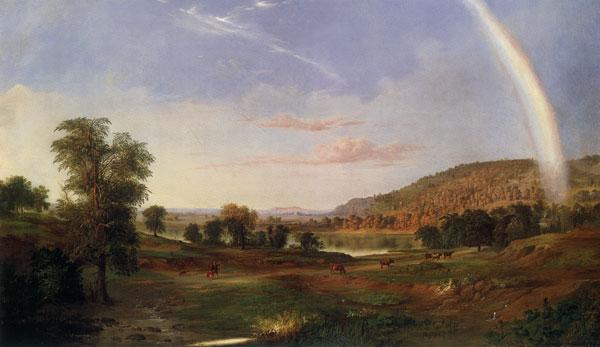 Landscape with Rainbow, Duncanson (22X38)