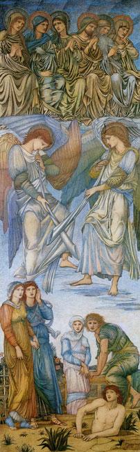 The Last Judgment -1, Edward Burne-Jones (11.75X42)