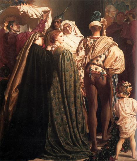Dante in Exile (detail), Fredrick Leighton