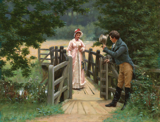 The Gallant Suitor, Edmund Blair Leighton