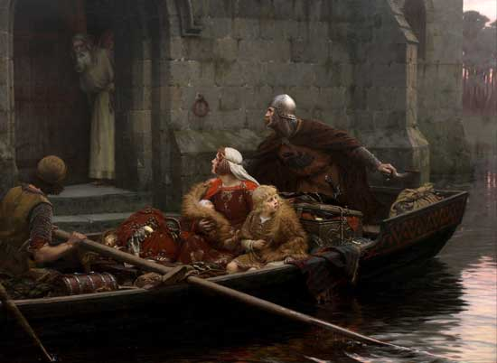 In Time of Peril, Edmund Blair Leighton