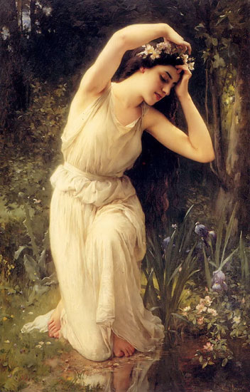 A Nymph in the Forest, Charles Amable Lenoir (16X25)