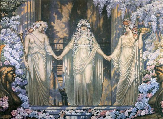Les Femmes d Eleusis, Delville (16X22)