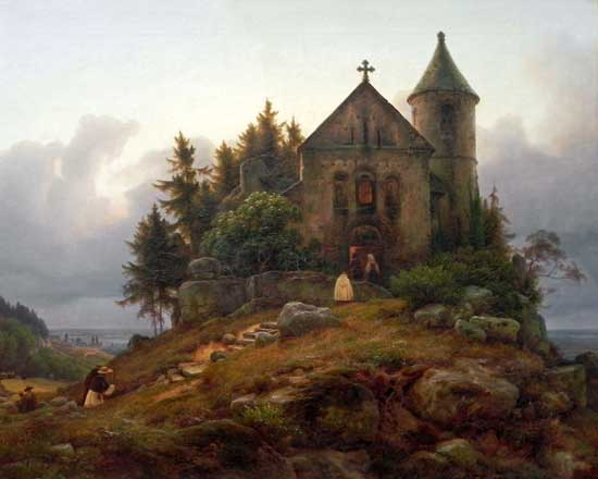 Forest Chapel, Carl Friedrich Lessing
