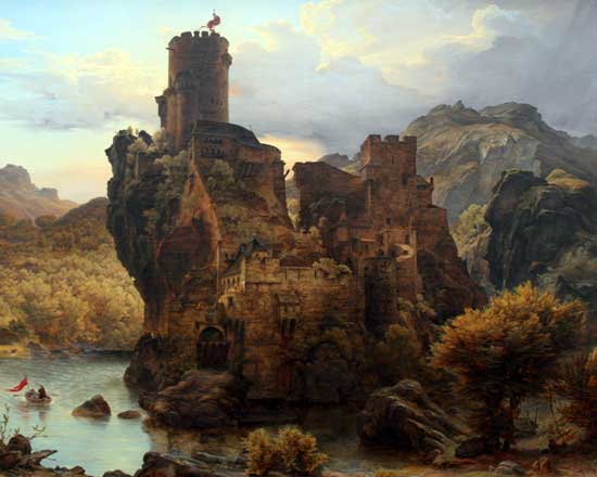 Knight's Castle,Carl Friedrich Lessing (20X25)