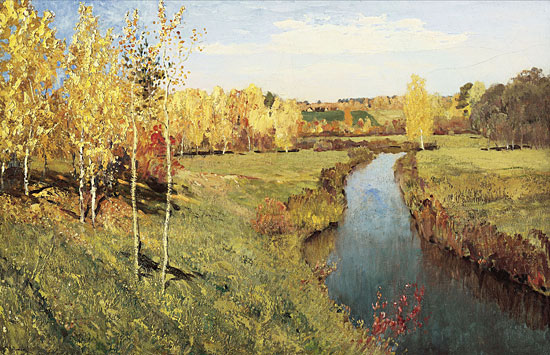 Golden Autumn, Isaac Levitan (20X31)